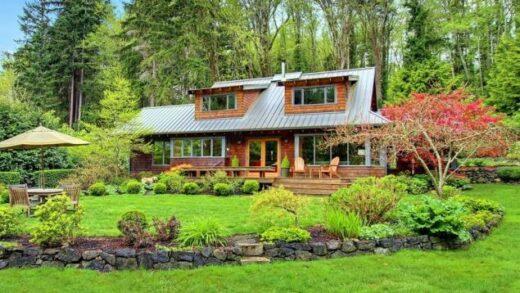 House in a natural garden